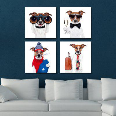 DYC 10103 4PCS Dogs Print Art Ready to Hang Paintings