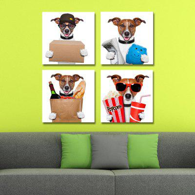 DYC 10104 4PCS Dogs Working Woman Print Art Ready to Hang PaintingsPrints<br>DYC 10104 4PCS Dogs Working Woman Print Art Ready to Hang Paintings<br><br>Brand: DYC<br>Craft: Oil Painting<br>Form: Four Panels<br>Material: Canvas<br>Package Contents: 1 x Set of Print Arts<br>Package size (L x W x H): 34.00 x 34.00 x 10.00 cm / 13.39 x 13.39 x 3.94 inches<br>Package weight: 1.3500 kg<br>Painting: Include Inner Frame<br>Shape: Horizontal Panoramic<br>Style: Oil Painting, New Arrival<br>Subjects: Animal<br>Suitable Space: Dining Room,Office,Hotel,Cafes,Kids Room,Hallway
