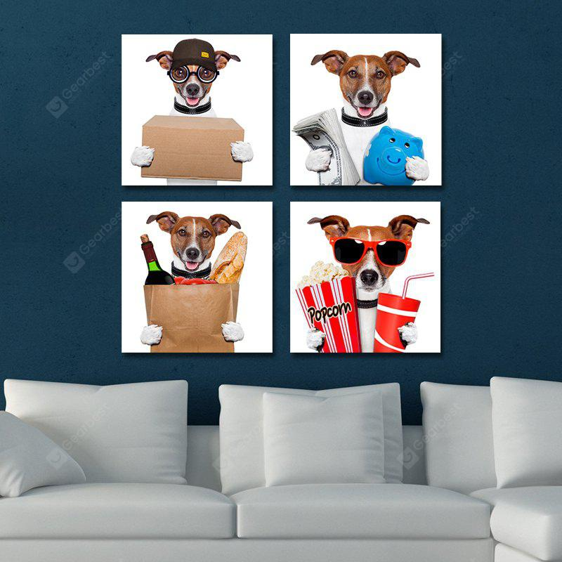 DYC 10104 4PCS Dogs Working Woman Print Art Ready to Hang Paintings