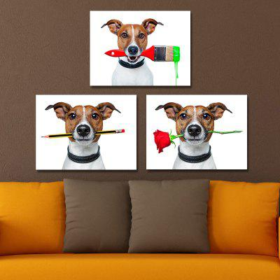 DYC 10110 3PCS Dogs Print Art Ready to Hang PaintingsPrints<br>DYC 10110 3PCS Dogs Print Art Ready to Hang Paintings<br><br>Brand: DYC<br>Craft: Oil Painting<br>Form: Three Panels<br>Material: Canvas<br>Package Contents: 1 x Set of Print Arts<br>Package size (L x W x H): 34.00 x 34.00 x 10.00 cm / 13.39 x 13.39 x 3.94 inches<br>Package weight: 1.3500 kg<br>Painting: Include Inner Frame<br>Shape: Horizontal Panoramic<br>Style: Animal, New Arrival<br>Subjects: Animal<br>Suitable Space: Hotel,Cafes,Kids Room,Kids Room