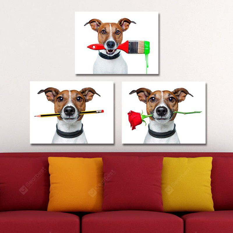 DYC 10110 3PCS Dogs Print Art Ready to Hang Paintings