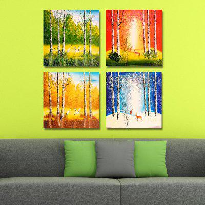 DYC 10111 4PCS Landscape Print Art Ready to Hang PaintingsPrints<br>DYC 10111 4PCS Landscape Print Art Ready to Hang Paintings<br><br>Brand: DYC<br>Craft: Oil Painting<br>Form: Four Panels<br>Material: Canvas<br>Package Contents: 1 x Set of Print Arts<br>Package size (L x W x H): 34.00 x 34.00 x 10.00 cm / 13.39 x 13.39 x 3.94 inches<br>Package weight: 1.3500 kg<br>Painting: Include Inner Frame<br>Shape: Horizontal Panoramic<br>Style: Scenic, Scenery / Landscape<br>Subjects: Landscape<br>Suitable Space: Living Room,Office,Cafes,Pathway