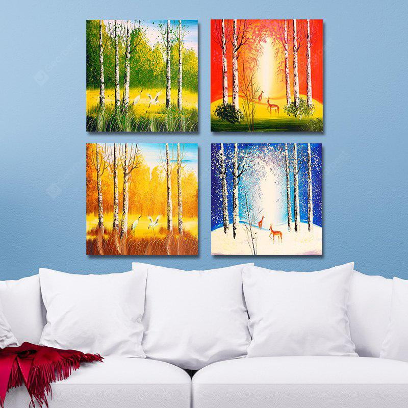 DYC 10111 4PCS Landscape Print Art Ready to Hang Paintings