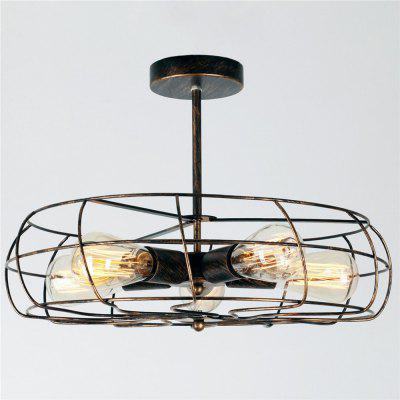 Brightness Vintage Loft Creative Fan Shape Ceiling LightCeiling Fans<br>Brightness Vintage Loft Creative Fan Shape Ceiling Light<br><br>Brand: Brightness<br>Bulb Base: E26,E27<br>Bulb Included: No<br>Bulb Type: Incandescent,LED<br>Features: Wrought Iron, Mini Style<br>Finish: Paint<br>Fixture Height ( CM ): 26<br>Fixture Length ( CM ): 46<br>Fixture Material: Metal<br>Fixture Width ( CM ): 46<br>Light Direction: Ambient Light<br>Number of Bulb Sockets: 5<br>Package Contents: 1 x Light, 1 x Assembly Parts<br>Package size (L x W x H): 48.00 x 48.00 x 20.00 cm / 18.9 x 18.9 x 7.87 inches<br>Package weight: 2.7500 kg<br>Product size (L x W x H): 46.00 x 46.00 x 26.00 cm / 18.11 x 18.11 x 10.24 inches<br>Product weight: 1.5000 kg<br>Shade Material: Metal<br>Style: Vintage antique, Country, Simple Style<br>Suggested Room Size: 10 - 15?<br>Suggested Space Fit: Bedroom,Cafes,Dining Room,Entry,Game Room,Garage,Hallway,Indoors,Kitchen,Living Room,Pathway<br>Type: Flush Mount<br>Voltage ( V ): AC110,AC220<br>Wattage per Bulb ( W ): 60