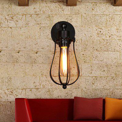 Everflower Loft Industrial Retro Sconce Metal Wall Lamp with Swing Arm Painted Finish