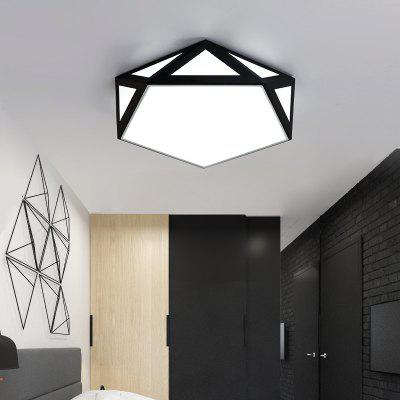 JUEJA  Nordic Modern Minimalist Geometry Creative Ceiling Light 18W LED Lamp for Living Room / Bedroom / Study Rooms / RestaurantsFlush Ceiling Lights<br>JUEJA  Nordic Modern Minimalist Geometry Creative Ceiling Light 18W LED Lamp for Living Room / Bedroom / Study Rooms / Restaurants<br><br>Battery Included: Non-preloaded<br>Bulb Base: LED Integrated<br>Color Temperature or Wavelength: Cold White(5000-5500K)<br>Dimmable: No<br>Features: Designers<br>Fixture Height ( CM ): 10<br>Fixture Material: Metal<br>Fixture Width ( CM ): 42<br>Light Direction: Downlight<br>Light Source Color: Cold White<br>Package Contents: 1 x 18W Led Ceiling Light<br>Package size (L x W x H): 46.00 x 46.00 x 16.00 cm / 18.11 x 18.11 x 6.3 inches<br>Package weight: 3.0000 kg<br>Product size (L x W x H): 42.00 x 42.00 x 10.00 cm / 16.54 x 16.54 x 3.94 inches<br>Product weight: 2.5000 kg<br>Remote Control Supported: No<br>Shade Material: Acrylic<br>Stepless Dimming: No<br>Style: Chic &amp; Modern, Simple Style<br>Suggested Room Size: 10 - 15?,15 - 20?<br>Suggested Space Fit: Living Room,Bedroom,Dining Room,Office,Study Room<br>Type: Ceiling Light<br>Voltage ( V ): 220,110<br>Wattage (W): 18