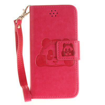 все цены на  Panda Flip Fold PU Leather Wallet Case Design with Stand and Card Slots Magnetic Closure iPhone 5/5S/5 SE Case  онлайн
