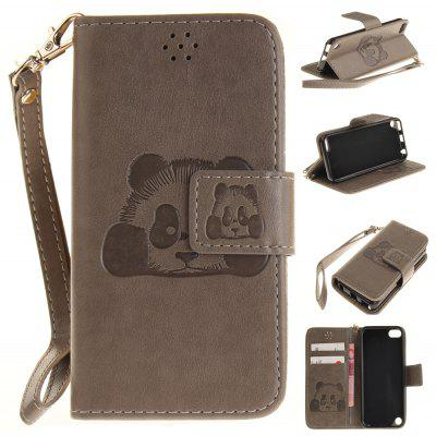 The Panda Mode PU+TPU Leather Wallet Case Design with Stand and Card Slots Magnetic Closure Case for IPod Touch 5 / 6