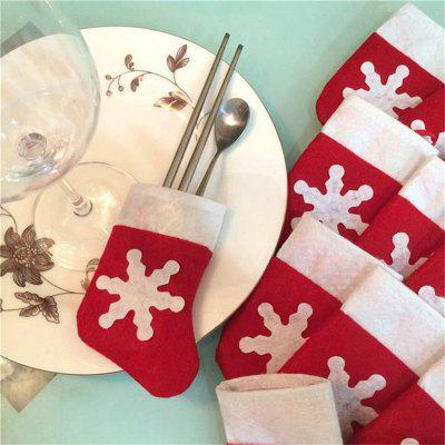 Buy FLAME 12 Pieces/Set Mini Christmas Stockings Dinnerware Cover Xmas Tree Decorations Christmas Decorations Festival Party Ornament for $9.06 in GearBest store