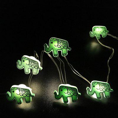 Elephant Shape String Lights for Patio Micro 2M 20-LED