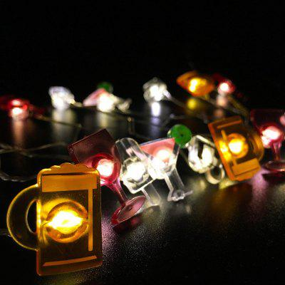 Bar Shape String Lights for Patio Micro 2M 20-LED