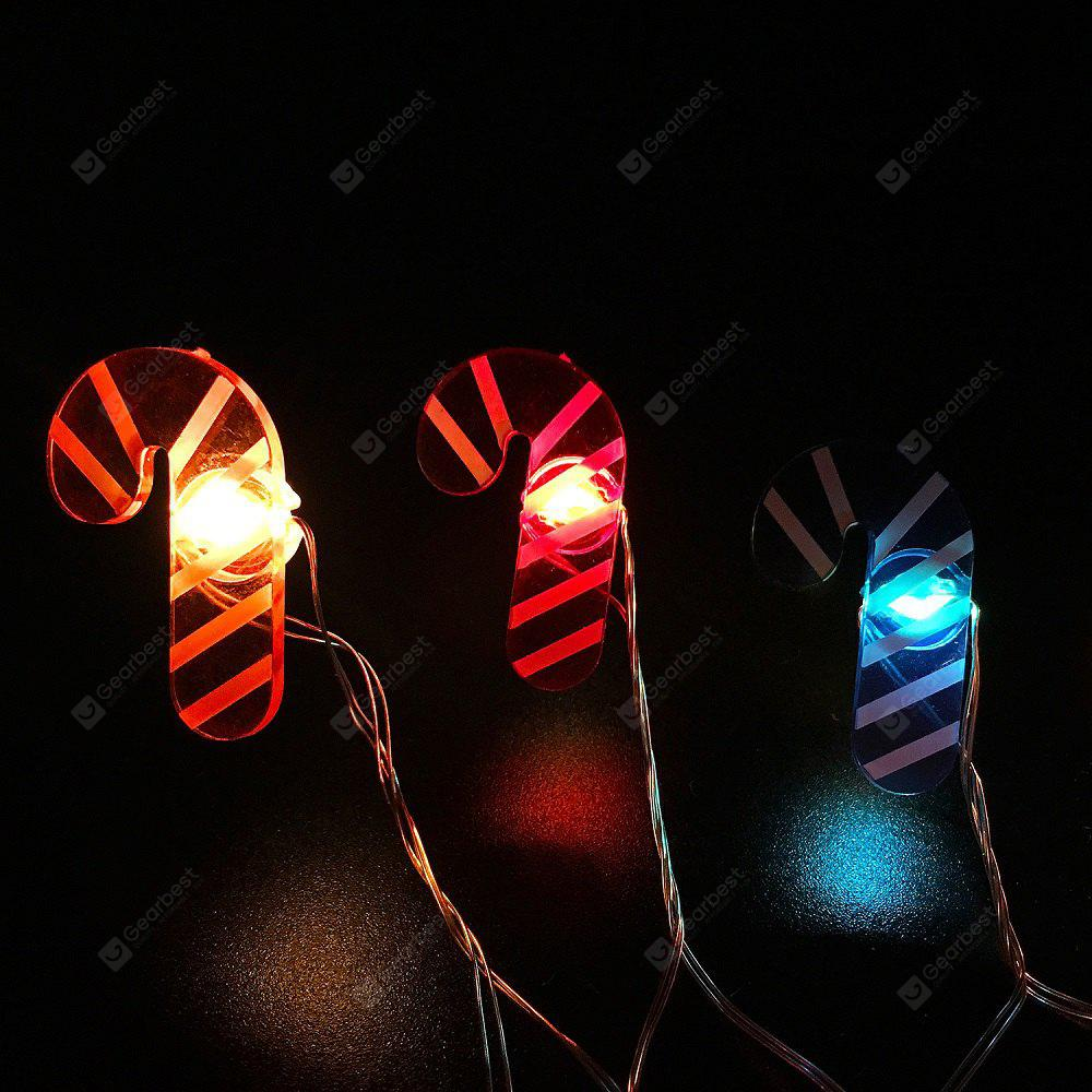 Candy Cane Shape String Lights for Patio Micro 2M 20-LED