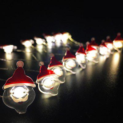 Santa Claus Shape String Lights for Patio Micro 2M 20-LED
