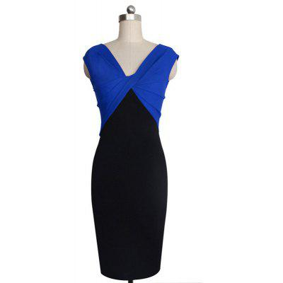 Womens Dress V Neck Sleeveless Colorblock Patchwork Split Sexy DressBodycon Dresses<br>Womens Dress V Neck Sleeveless Colorblock Patchwork Split Sexy Dress<br><br>Dresses Length: Knee-Length<br>Elasticity: Elastic<br>Fabric Type: Broadcloth<br>Material: Acetate<br>Neckline: V-Neck<br>Package Contents: 1 X Dress<br>Pattern Type: Solid<br>Season: Summer<br>Silhouette: Sheath<br>Sleeve Length: Sleeveless<br>Style: Bohemian<br>Weight: 0.3000kg<br>With Belt: No