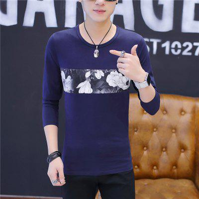 Mens Fashion Tide Slim Long Sleeve T-ShirtMens T-shirts<br>Mens Fashion Tide Slim Long Sleeve T-Shirt<br><br>Collar: Round Neck<br>Material: Cotton<br>Package Contents: 1 x T-shirt<br>Pattern Type: Print<br>Sleeve Length: Full<br>Style: Casual<br>Weight: 0.2000kg