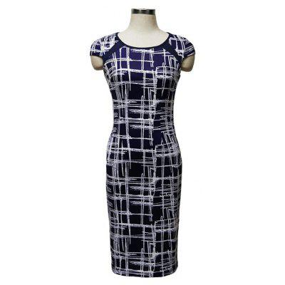 Buy BLUEL XL Summer Dress Short Print Bandage Dress for $21.56 in GearBest store