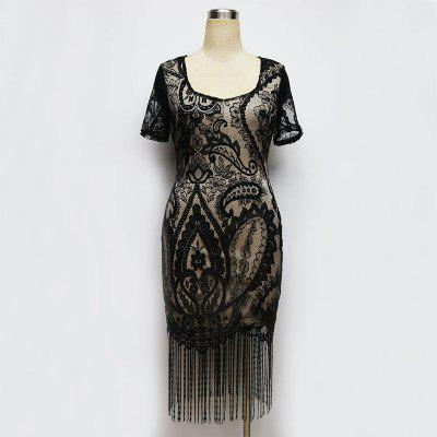Womens Lace Dress V Neck Short Sleeve Hollow Out Tassel Sheath DressWomens Dresses<br>Womens Lace Dress V Neck Short Sleeve Hollow Out Tassel Sheath Dress<br><br>Dresses Length: Knee-Length<br>Elasticity: Elastic<br>Fabric Type: Lace<br>Material: Spandex<br>Neckline: V-Neck<br>Package Contents: 1 ?Dress<br>Pattern Type: Solid<br>Season: Summer<br>Silhouette: Beach<br>Sleeve Length: Short Sleeves<br>Style: Sexy &amp; Club<br>Weight: 0.1800kg<br>With Belt: No