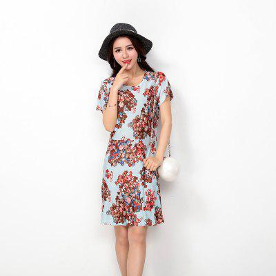 Womens Fashion Ice Silk Print Short Sleeves Slim DressWomens Dresses<br>Womens Fashion Ice Silk Print Short Sleeves Slim Dress<br><br>Dresses Length: Mini<br>Elasticity: Super-elastic<br>Fabric Type: Velour<br>Material: Rayon<br>Neckline: Round Collar<br>Package Contents: 1 x Dress<br>Pattern Type: Print<br>Season: Summer<br>Silhouette: A-Line<br>Sleeve Length: Short Sleeves<br>Style: Casual<br>Weight: 0.1700kg<br>With Belt: No