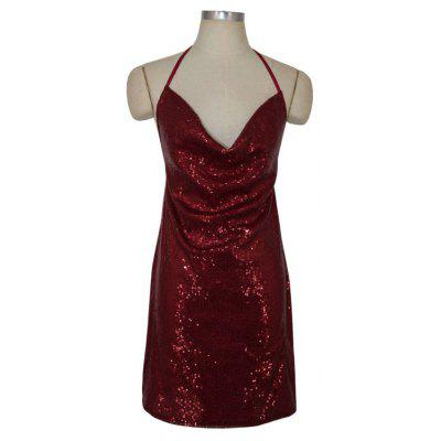 Sexy Ladies Sequined Dress Strapless Backless Dress Christmas Club Side SlitWomens Dresses<br>Sexy Ladies Sequined Dress Strapless Backless Dress Christmas Club Side Slit<br><br>Dresses Length: Knee-Length<br>Elasticity: Elastic<br>Fabric Type: Broadcloth<br>Material: Acetate<br>Neckline: V-Neck<br>Occasion: Beach, Club, Cocktail &amp; Party, Night Out, Evening<br>Package Contents: 1 X Dress<br>Pattern Type: Solid<br>Season: Summer<br>Silhouette: Beach<br>Sleeve Length: Sleeveless<br>Style: Sexy &amp; Club<br>Weight: 0.3000kg<br>With Belt: No