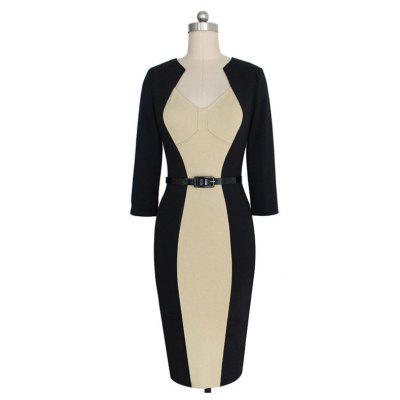 Womens Sheath Dress Color Block Midi DressLong Sleeve Dresses<br>Womens Sheath Dress Color Block Midi Dress<br><br>Dresses Length: Knee-Length<br>Elasticity: Elastic<br>Fabric Type: Broadcloth<br>Material: Polyester<br>Neckline: V-Neck<br>Package Contents: 1 X DRess<br>Pattern Type: Geometric<br>Season: Fall<br>Silhouette: Sheath<br>Sleeve Length: Long Sleeves<br>Style: Bohemian<br>Weight: 0.3000kg<br>With Belt: Yes