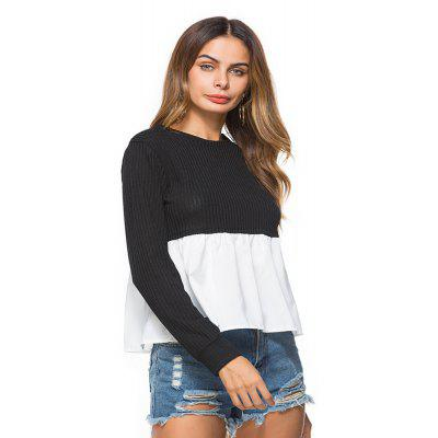 WomenS Clothing Fashion Stitching Long Sleeve T-ShirtTees<br>WomenS Clothing Fashion Stitching Long Sleeve T-Shirt<br><br>Collar: Round Neck<br>Elasticity: Elastic<br>Embellishment: Spliced<br>Fabric Type: Worsted<br>Material: Cotton, Polyester<br>Package Contents: 1 x T-Shirt<br>Pattern Type: Patchwork<br>Shirt Length: Regular<br>Sleeve Length: Full<br>Style: Fashion<br>Weight: 0.2500kg