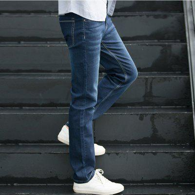 Autumn Fashion Leisure  Joker Jeans MaleMens Pants<br>Autumn Fashion Leisure  Joker Jeans Male<br><br>Closure Type: Zipper Fly<br>Color: Blue<br>Fabric Type: Broadcloth<br>Fit Type: Loose<br>Material: 68.6% Cotton 29.6% Polyester 1.1% Spandex 0.7% Viscose, Cotton, Jeans, Polyester, Spandex<br>Package Contents: 1 X Jean<br>Pant Length: Long Pants<br>Pant Style: Straight<br>Season: Spring Summer Autumn Winter<br>Size: 29 30 31 32 33 34 36 38 40<br>Style: Blue Long Jeans<br>Waist Type: Mid<br>Wash: Light<br>Weight: 0.6000kg