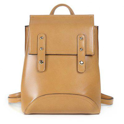 Buy KHAKI HORIZONTAL Korean Women 2017 New Students All-Match Fashion Shoulder Messenger Bag Shoulder Leisure Small Backpack for $36.15 in GearBest store