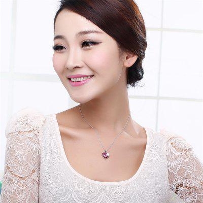 Elegant Pink Heart-Shaped Romantic Fashion Lady Necklace