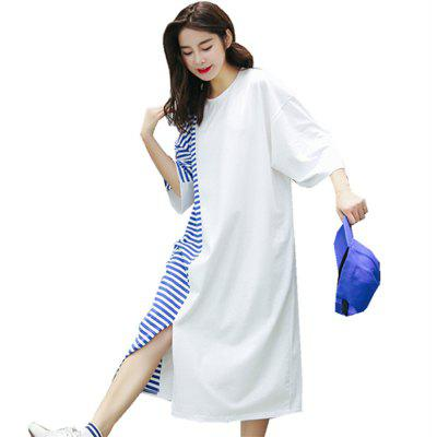 The New Loose - Size and Loose - Striped Dress