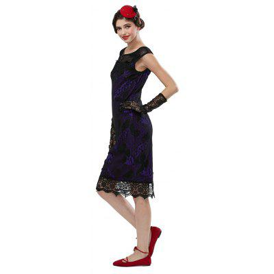 Elegant woman New Stylish Summer Fashion Sleeveless Sexy Lace Embroidery Butterfly Party Evening Pencil Dresses