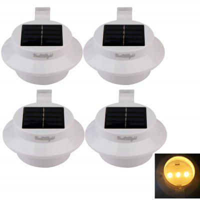 Buy WARM WHITE LIGHT YouOKLight 0.3W 1.2V Waterproof 3-LED Wall Lamp 4PCS for $18.96 in GearBest store