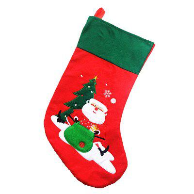 creativity santa claus socks gift bag christmas decorations - Christmas Socks Decoration