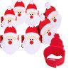 4pcs Santa Claus Buckle Napkin Ring Christmas Decorations - RED