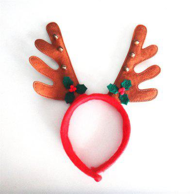 Christmas Antlers Headband with Bell Holiday Birthday Party Props Supplies