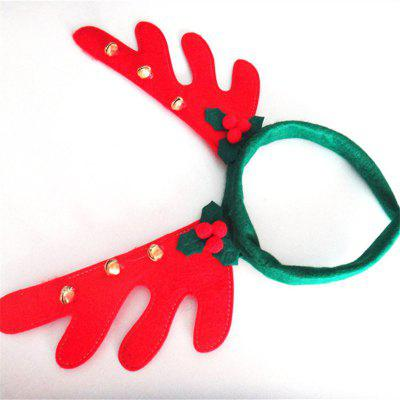 Christmas Antlers Headband with Bell Holiday Birthday Party Props SuppliesChristmas Supplies<br>Christmas Antlers Headband with Bell Holiday Birthday Party Props Supplies<br><br>Material: Plastic, Nonwoven<br>Package Quantity: 1 x Headband<br>Package size (L x W x H): 36.00 x 30.00 x 3.00 cm / 14.17 x 11.81 x 1.18 inches<br>Package weight: 0.0300 kg<br>Product size (L x W x H): 35.00 x 30.00 x 2.00 cm / 13.78 x 11.81 x 0.79 inches<br>Product weight: 0.0200 kg<br>Usage: Birthday, Party, Stage, Wedding, New Year, Christmas, Performance