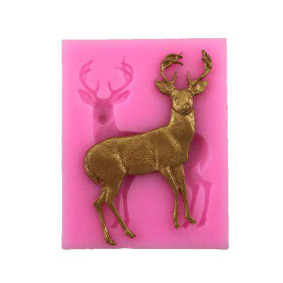 AY-XP130 Christmas Reindeer Pattern Fondant Mold for Cake Decoration