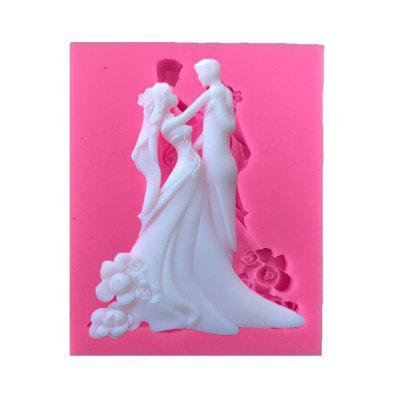 AY - XP131 Festive Bride Groom Silicone Cake Decoration Mold