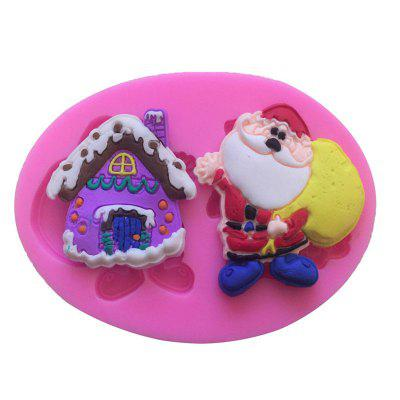 AY - XP135 Santa Claus House Pattern Fondant Mold for Cake Decoration