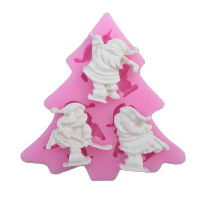 AY - XP13803 Santa Claus Silicone Pattern Fondant Mold for Cake Decoration