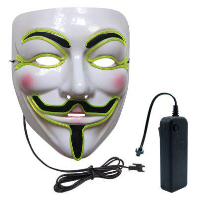 BRELONG LED Halloween Glowing V Face MaskNovelty lighting<br>BRELONG LED Halloween Glowing V Face Mask<br><br>Available Light Color: Blue,Cool White,Green,Purple,Red<br>Brand: BRELONG<br>Color Temperature or Wavelength: 400 - 700nm, 470 - 475nm, 380 - 400nm, 500 - 560nm<br>Features: Easy to use<br>Function: Red<br>Output Power: &lt;0.5W<br>Package Contents: 1 x Mask, 1 x Battery Box<br>Package size (L x W x H): 23.00 x 18.00 x 9.00 cm / 9.06 x 7.09 x 3.54 inches<br>Package weight: 0.1500 kg<br>Product size (L x W x H): 22.00 x 17.00 x 8.00 cm / 8.66 x 6.69 x 3.15 inches<br>Product weight: 0.1000 kg<br>Sheathing Material: Plastic<br>Voltage (V): 3V