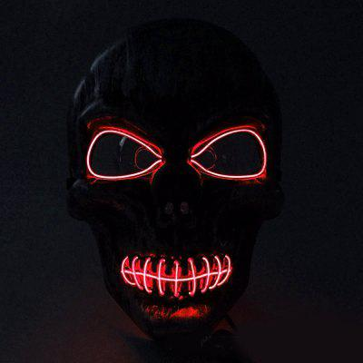 BRELONG Halloween EL Cold Light Face Mask LED Light