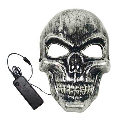 BRELONG Halloween Creative Skull Tone MaskNovelty lighting<br>BRELONG Halloween Creative Skull Tone Mask<br><br>Available Light Color: Blue,Green,Orange,Pink,Yellow<br>Brand: BRELONG<br>Color Temperature or Wavelength: 450 - 435nm 622 - 597nm 577 - 492nm 360 - 380nm 597 - 577nm<br>Features: Easy to use<br>Function: Studio and Exhibition Lighting, Home Lighting, Commercial Lighting<br>Output Power: &lt;0.5W<br>Package Contents: 1 x Mask, 1 x Battery Box<br>Package size (L x W x H): 26.00 x 18.00 x 10.00 cm / 10.24 x 7.09 x 3.94 inches<br>Package weight: 0.1100 kg<br>Product size (L x W x H): 25.00 x 17.00 x 8.00 cm / 9.84 x 6.69 x 3.15 inches<br>Product weight: 0.0850 kg<br>Sheathing Material: ABS<br>Voltage (V): 3V
