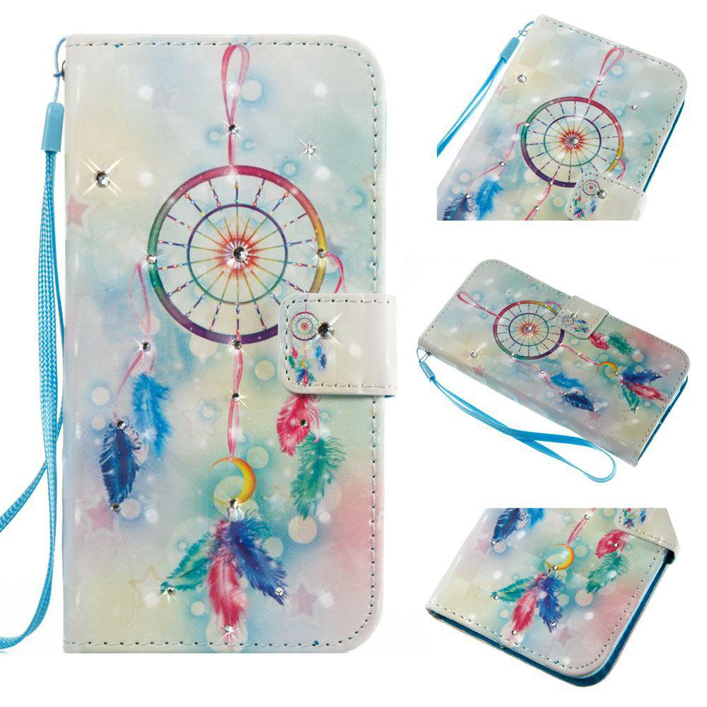 Feather Wind Chimes 3D Painting Point Drill Phone Case for Iphone X