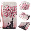 Plum Tree Girl 3D Painting Point Drill Phone Case for Iphone X - GOLDEN