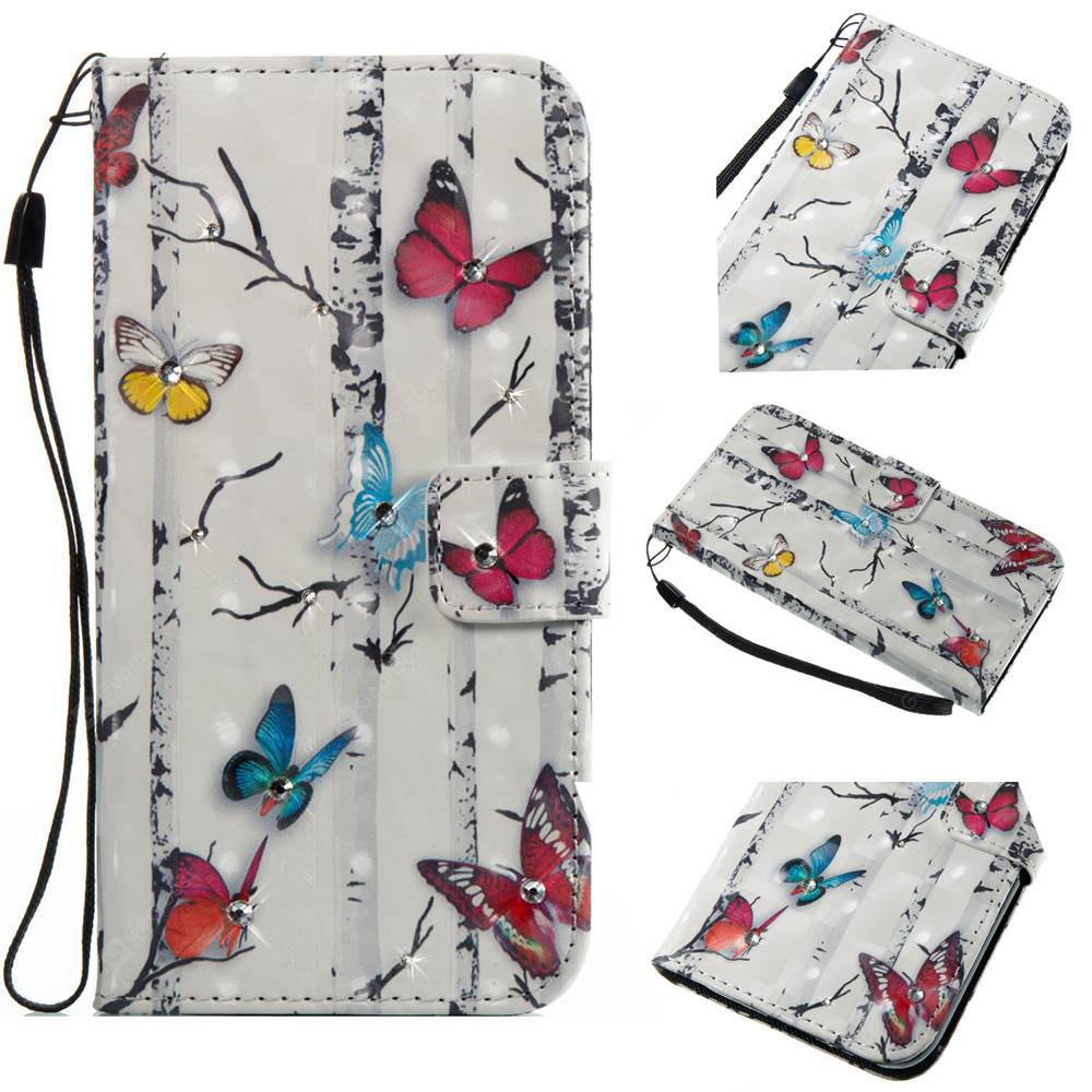 Butterflies 3D Painting Point Drill Phone Case for Iphone X