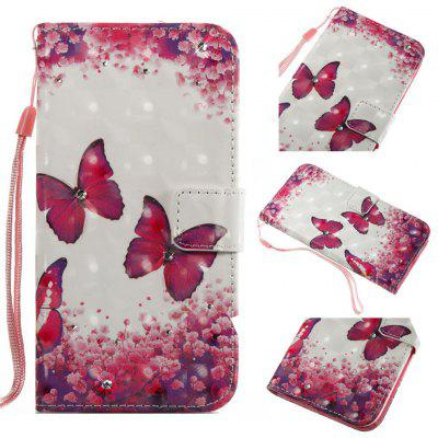 Rose Butterfly 3D Painting Point Drill Phone Case for Iphone X