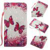 Rose Butterfly 3D Painting Point Drill Phone Case for Iphone X - ROSE RED