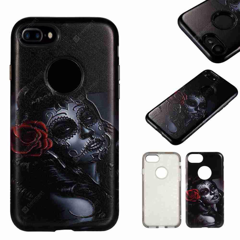 Two-In-One Painted Embossed Pu+Tpu Phone Case for Iphone 7 Plus / 8 Plus