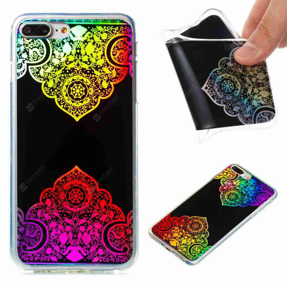 Flash Powder Painted Colorful TPU Phone Case for Iphone 7 Plus / 8 Plus