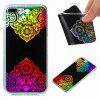 Flash Powder Painted Colorful TPU Phone Case for Iphone 7 Plus / 8 Plus - BLACK AND ROSE RED